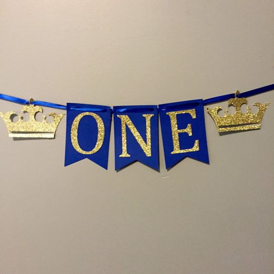 Royal Prince First Birthday Package, High Chair Banner