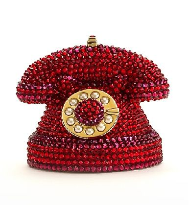 JudithLeiber red jeweled telephone