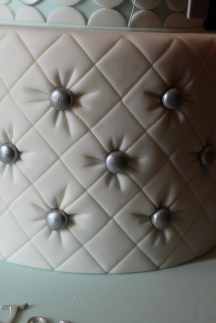 Tufting with diamond side design tool by patchwork then dresden tool for creases