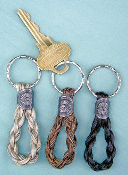 horse hair key chains | Spiral Braided Loop Horse Hair Key Chain | The American Saddlebred ...
