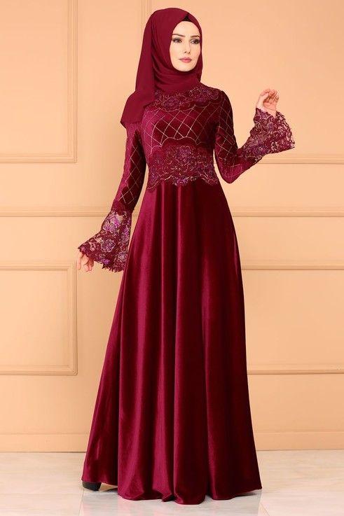 Modaselvim Abiye Flok Kemerli Abiye Asm2133 Pudra Model Pakaian Muslim Model Pakaian Wanita Pakaian Pesta