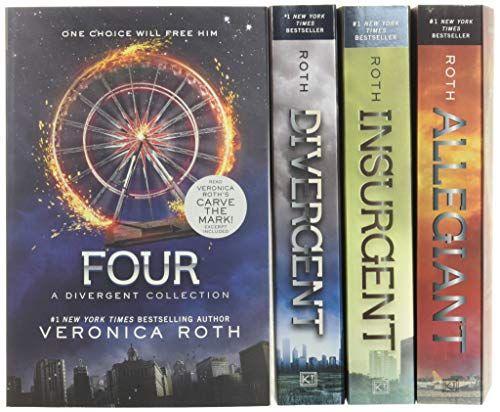 Divergent Series Four Book Paperback Box Set Divergent Insurgent Allegiant Four By Veronica Roth In 2021 Allegiant Book Divergent Series Divergent Book Series