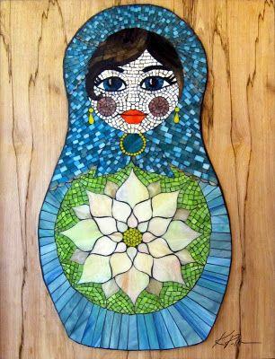 Stained Glass Mosaic Matryoshka Doll by Kasia Polkowska  https://www.facebook.com/KasiaMosaics