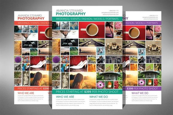 Photo Collage Flyer Template by Creativenauts on @creativemarket - photography flyer