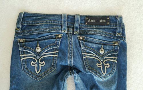 """Rock Revival denim Jeans Gwen Boot cut women's size 30 hemmed to 32"""" inseam  https://t.co/U4uquMJJHl https://t.co/y5tNPaOVeC"""