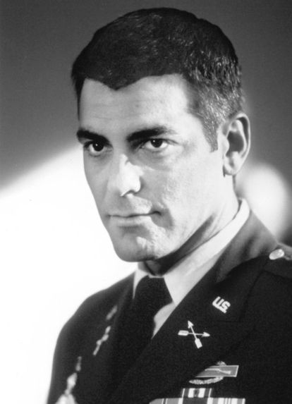 George Clooney as Lt. Col. Thomas Devoe in 'Peacemaker', 1997, directed by Mimi Leder. S)
