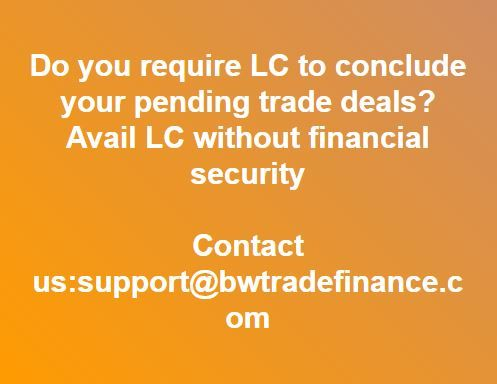 Avail Lc Without Financial Security Trade Finance Finance Financial