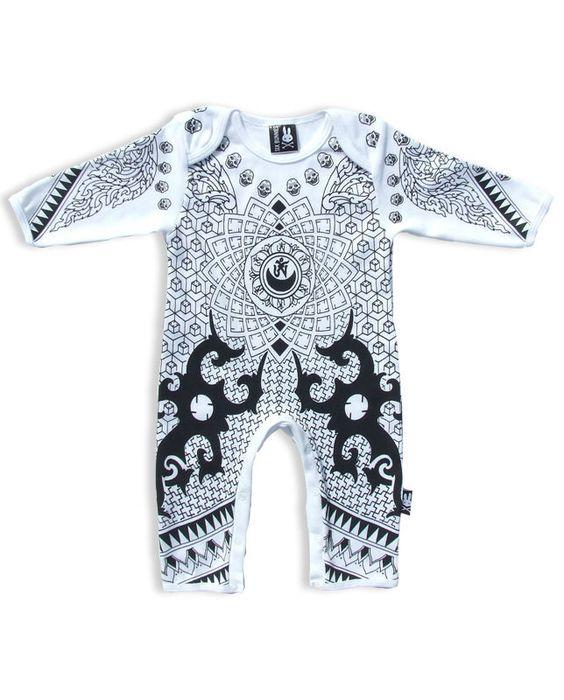 Six Bunnies Baby OHM Playsuit.Tattoo,Biker,Rockabilly,Custom,Pinup Clothing Styl