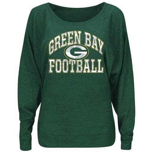 Mens Green Bay Packers Junk Food Steel Tri-Blend Touchdown T-Shirt