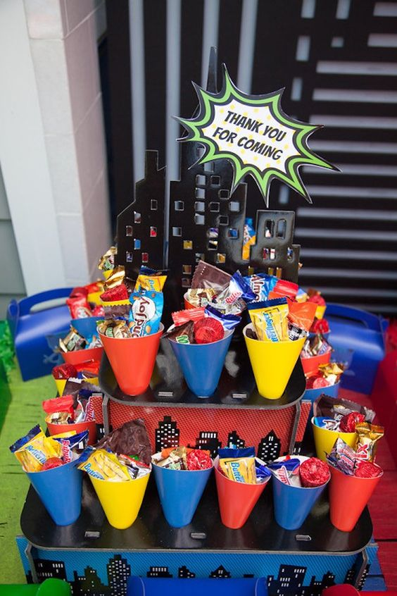 Party Details From A Pj Masks Superhero Birthday Party Via