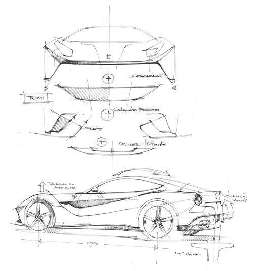 Biroandclay Ferrari F12 Berlinetta Design Sketches In 2020 Automotive Design Concept Car Design Car Design