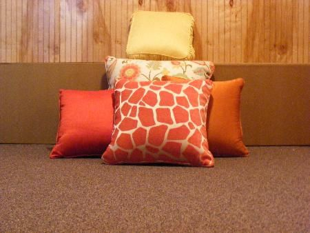 Pillows to match your drapery treatments!
