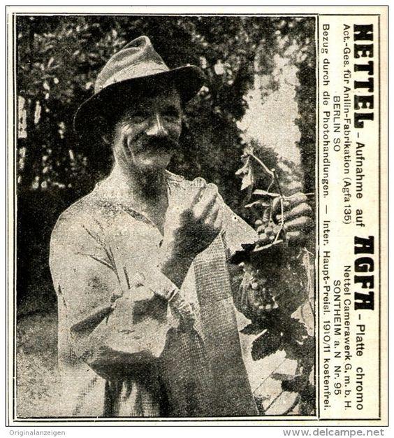Original-Werbung/ Anzeige 1910 - NETTEL - CAMERA - SONTHEIM / AGFA FILM - ca. 90 x 100 mm