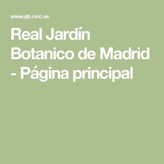 Real Jardín Botanico de Madrid - Página principal
