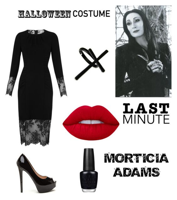 """Last Minute costume"" by cowen20 ❤ liked on Polyvore featuring Whistles, Lime Crime, Emi Jewellery and OPI"