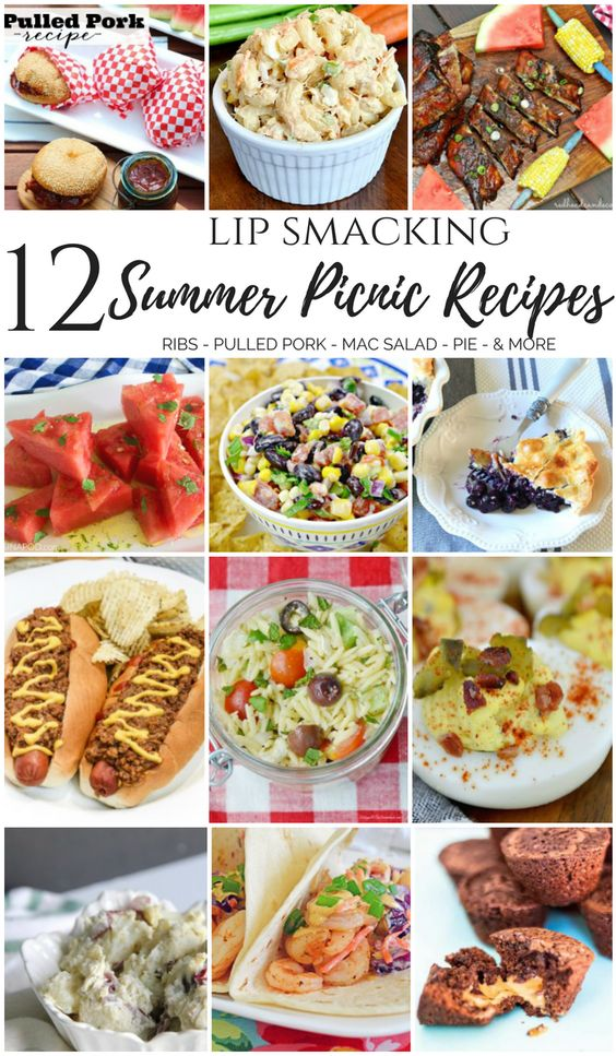 12 Lip Smacking Summer Picnic Recipes - The Cooking Housewives Hop