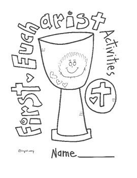 first grade ccd coloring pages | Catholic First Eucharist Activity Booklet | the Originals ...