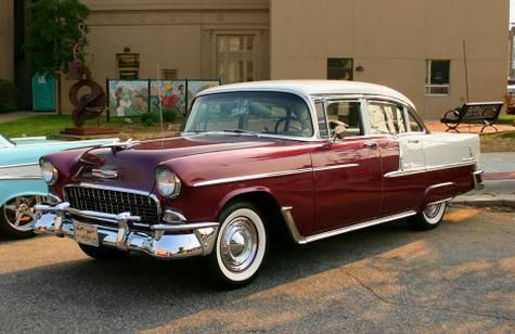 1955 Chevrolet Bel Air 4-Door Sedan..Re-pin brought to you by agents of #Carinsurance at #HouseofInsurance in Eugene, Oregon
