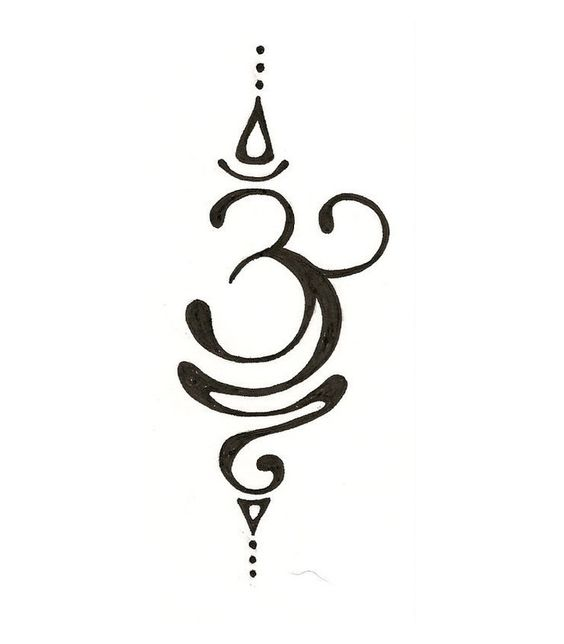 Beautiful OM~ This would make a cool tattoo. I want to do this on a t-shirt with a bleach pen.