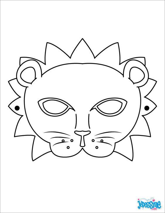 Masque imprimer masque de lion activit s pinterest - Masque de carnaval a imprimer ...