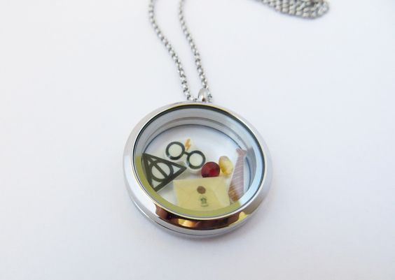 Harry Potter Inspired Floating Locket by geekilicious on Etsy https://www.etsy.com/listing/217565552/harry-potter-inspired-floating-locket: