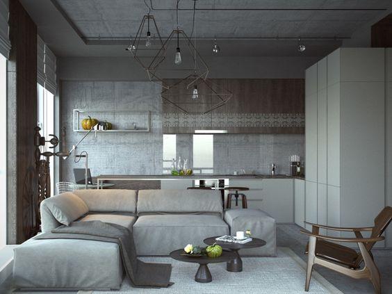 Eine ovale Beton Kücheninsel Küche Pinterest Kücheninsel - einrichtung mit minimalistisch asiatischem design