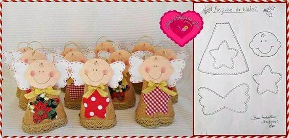 !!!!♥ Feltro-Aholic Moldes e tutoriais em feltro: Molde anjinho de Natal