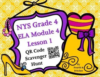 Students will work their way around the room using QR Code Clues!This QR Code Scavenger Hunt asks students to locate synonyms for 10 different Grade 4 ELA Module 4 Lesson 1 words. Students can work independently, in pairs, or as small groups.Hang the clues around the room and students will use/solve the clues given to move to the next card.