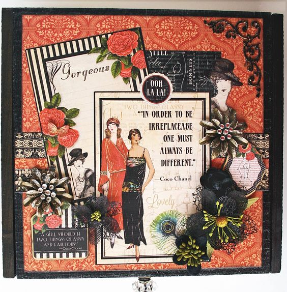 Scrap, Travel, and Bark!: A cigar box altered with G45 Couture.