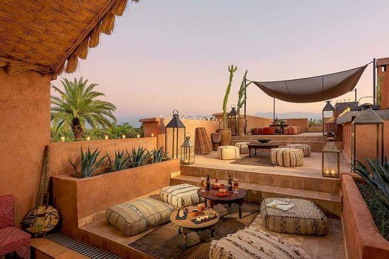 Terrazas Estilo Marroqui Jardines En La Azotea Diseño De