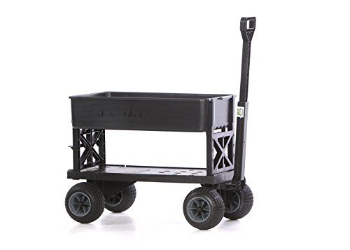Mighty Max Cart Plus One All Purpose Utility And Garden Cart With Black Tub And With All Terrain Weatherproof Wheels Garden Cart Wheels For Sale Black Tub
