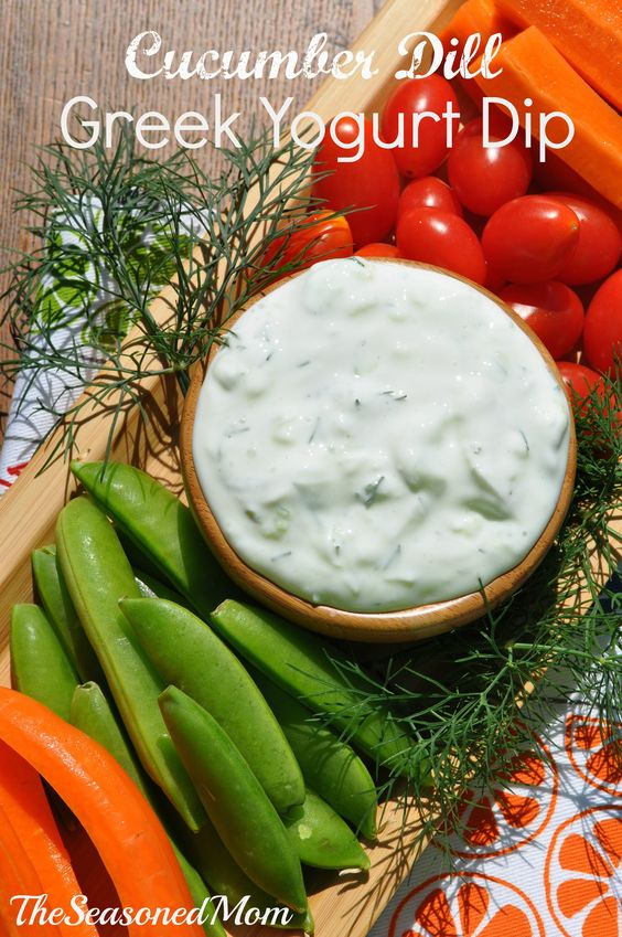 This Cucumber Dill Greek Yogurt Dip is light, healthy, and the perfect companion for fresh summer veggies!