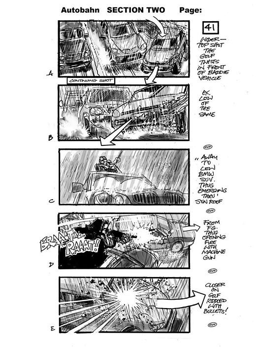 Martin Asbury  Storyboards  Autobahn This Image Shows His Skill