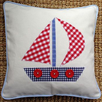 Applique Boat Cushion: