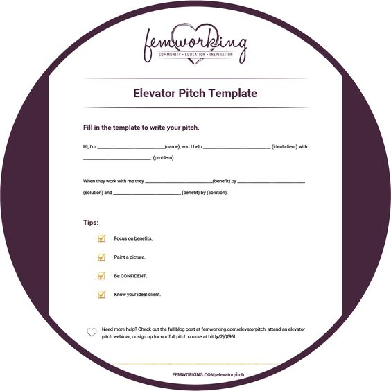 4 Keys to a Successful Elevator Pitch + FREE Training \ Template - elevator pitch template