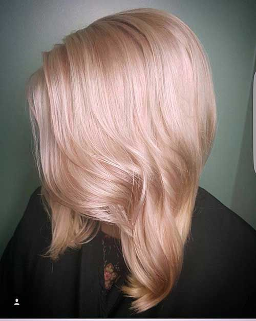 Champagne Pink Pastel Pink Short Hair