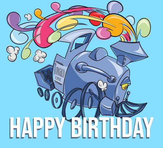 Pin By 123greetings Ecards On Birthday Celebration Beautiful Birthday Cards Train Birthday Birthday Wishes Funny