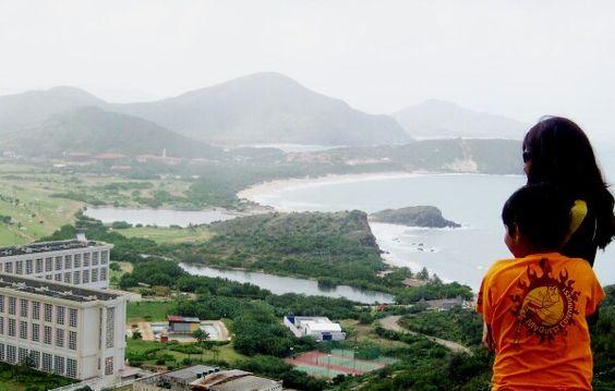 ponto para foto indispensável entre turista da ilha
