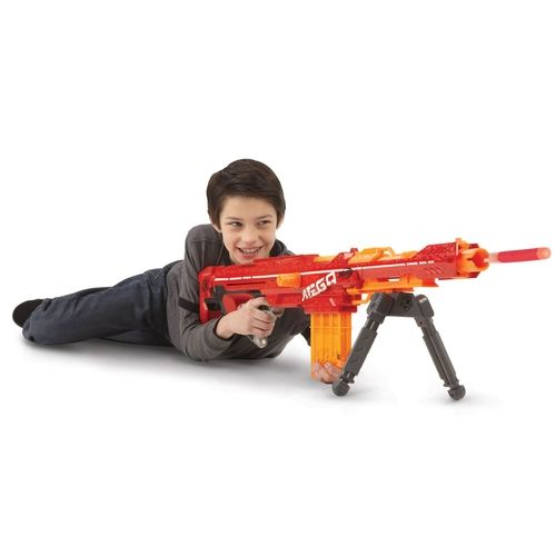 The 100' Range Foam Dart Blaster. from Hammacher Schlemmer on shop.CatalogSpree.com, your personal digital mall.