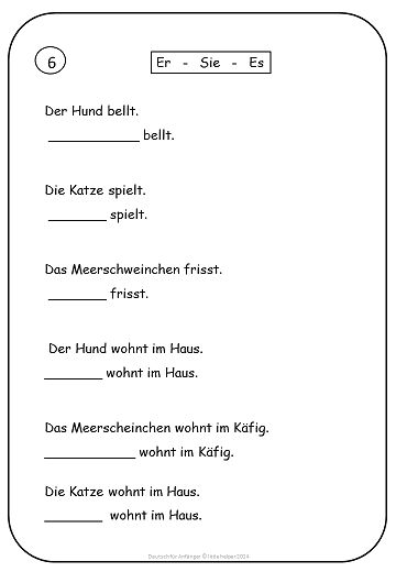 Printables German Grammar Worksheets texts personal pronoun and abs on pinterest german for beginners easy reading worksheets