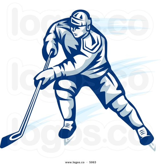ice hockey player images royalty free vector of a blue