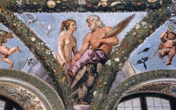 Venus y Júpiter, de Raffaello Sanzio