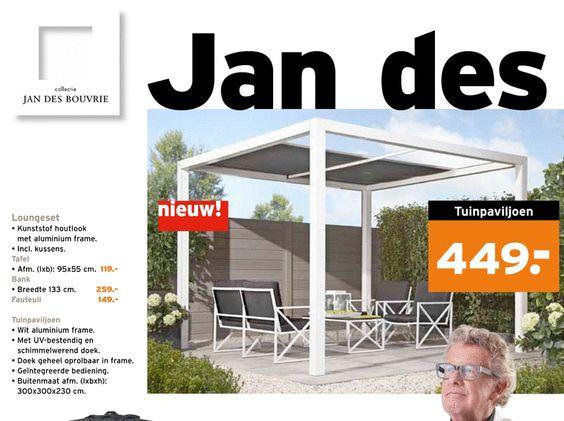 Jan des Bouvrie loungeset, tuinpaviljoen folder aanbieding bij Gamma   details   Garden
