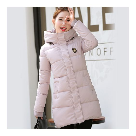 Super Long Down Coat Woman Thick Fashionable Thick pink M