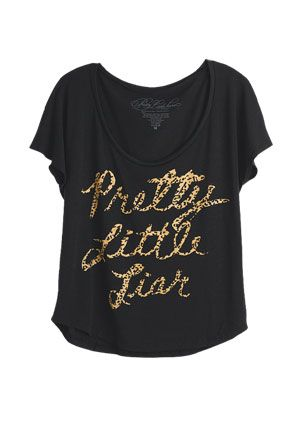 CHECK OUT AWESOME PLL THEMED CLOTHING HERE: http://pretty-little-liars-books.com/pretty-little-liars-clothing-line