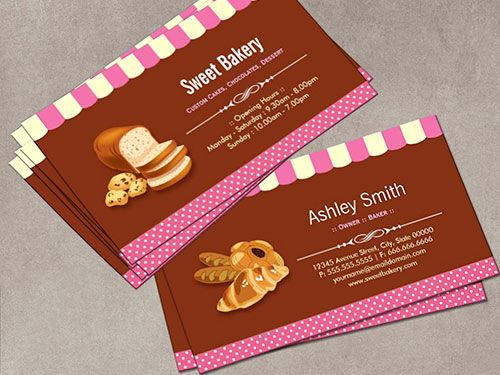 Business Card Template Bakery Choice Image Design And Cards Free Templates Gallery