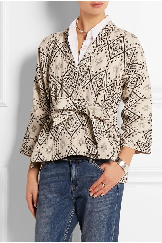 MADEWELL Arrowhead cotton-jacquard jacket $171.87 http://www.net-a-porter.com/products/524823