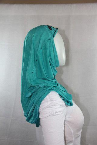 beaded hijab - blue