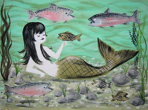Amanda Kindrigan children's mermaid print