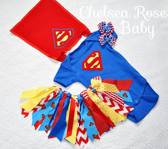 Oh my goodness!!! This Superman Tutu Outfit for baby girls is to die for! Perfect for Halloween or to wear to big brother Super hero birthday! www.chelsearosebaby.com www.facebook.com/chelsearosebaby